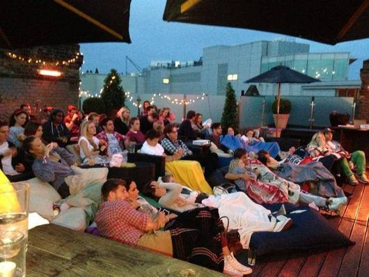 Broadway house newsletter rooftop cinema cigar evening for Terrace theater movies